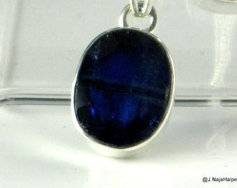 Sapphire Blue, Kyanite Pendant, Ultramarine Blue, Handmade Necklace, Sterling Silver, Kyanite Crystal, Silver Pendant, Natural Kyanite, K4