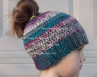 Crochet Hat Pattern Teenager : Girl crochet hat Etsy