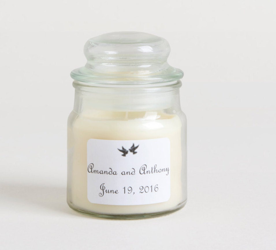 9 Soy Candles Wedding Favors Personalized Candle Favors