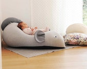 Beanbag for babies | kids beanbag chair | mouse beanbag baby | kids developing pillow | room decore | nersery decor for new born -grey& navy