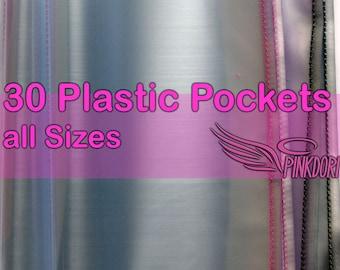 30 Plastic Pockets Insert