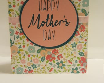 Colourful floral Mothers Day Card