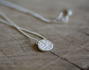 Antique coin necklace, small coin necklace, round simple necklace, coin pendant necklace, minimalist necklace, dainty necklace hammered