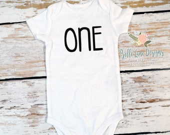 First Birthday Boy ONE Gerber Onesie Bodysuit   Boy's First Birthday Bodysuit   Boy First Birthday Bow Tie Outfit   Cake Smash Outfit   295