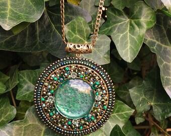 Green Mosaic pendant