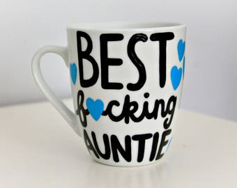 announcement idea, auntie mug, aunt mug, aunt gift, its a boy, its a girl, gender reveal mug, gender reveal gift, unique gift, mature