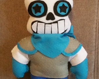 Felt handmade plush Blueberry  Sans (unofficial) from Underswap, Undertale, felt plushie,Sans plush,Undertale plush,stuffed toy