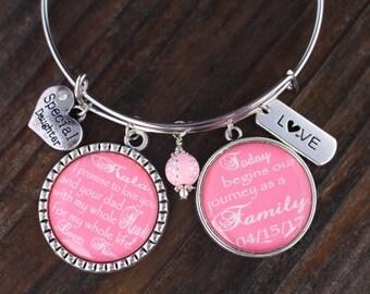 Stepdaughter Bangle Bracelet, Bangle Bracelet, Flower Girl Bangle Bracelet, Jr. Bridesmaids Bangle Bracelet, Bangle Bracelet, Flower Girls