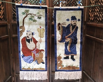Two (2) vintage Chinese Rugs