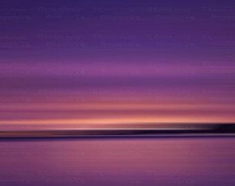 Fine Art Abstract Ocean Photograph {Sunset Artwork, Seascape Picture, Large Beach Photo, Original Photography, Coastal Home Decor Print}