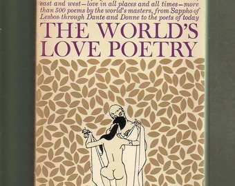 The World's Love Poetry. 1960 Bantam Paperback In Very Good Condition. 500 + Poems. Ink Art Illustrations.