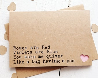 Funny Love Card - Funny Valentine Card - Valentines Day Card - Anniversary Card - Boyfriend Card - Handmade Cards - Girlfriend Card