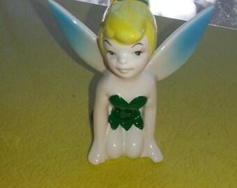 """Vintage 1950s Walt Disney Productions Peter Pan """"Tinkerbelle"""" Winged Kneeling Figurine"""
