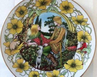 Alan Baker's Sleeping Beauty Plate Fairy Tale Plate Collection Limited Edition 1983