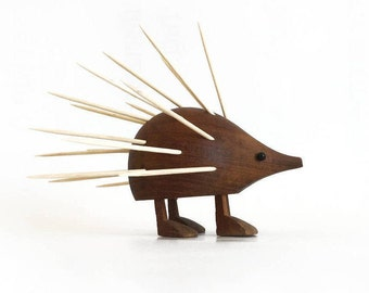 Laurids Lonborg wood hedgehog or porcupine cocktail stick or toothpick holder, hors d'oeuvres server