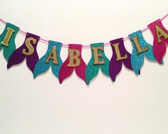 Mermaid Tail Banner | Mermaid Birthday | Mermaid Decorations | Under the Sea