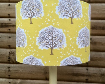 Oak trees in Sunshine Fabric Covered Lampshade 35cm only.VERY LAST ONE!!!!!