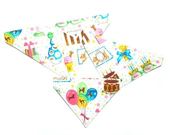 Sweet Happy Birthday Dog Bandana, Dog Scarf, no tie bandana, slip on bandana, pet bandana, doggy scarf , scarf for dogs
