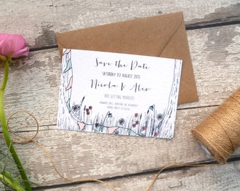 Sweet Summer Days Wedding Invitation Set | English Garden Party Style Wedding Save The Date Cards | SAMPLE
