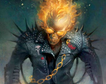 Ghost Rider Art Print Poster