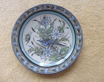 Ken Edwards Plate Mexican Ceramic Dinnerware Bird and Butterfly     Medium for salads Theme Small Bread Plate
