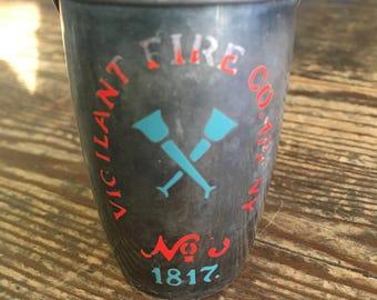 "Vintage Gorham Silver Plate ""Vigilant Fire Company"" Shot Glass"