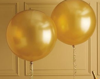 36 Inch Gold Balloon - Helium Inflable Big Latex Balloons For Party Decoration