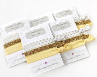 Twinkle Twinkle Little Star Baby Shower Favors - Twinkle Twinkle Little Star First Birthday Party Supplies - Hair Tie Favors