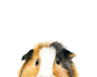 poster, nursery art, guinea pigs, kids wall art, nursery decor, art prints, art for kids room