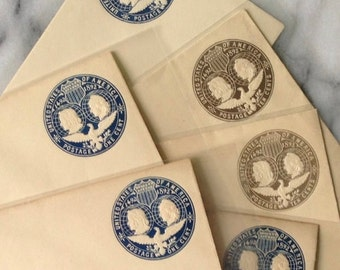 Six Sealed Antique Envelopes United States 1 cent and 10 cent 1893 Columbian Exposition World's Fair Envelopes