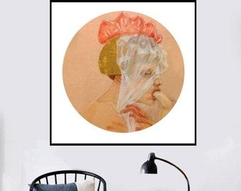 Modern painting Watercolors Paintings Original Art Paintings Of Women, Original Erotic Art Painting