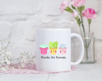 Funny plants etsy easter gift plants are friends mug best friend gift vegan gift idea negle Choice Image