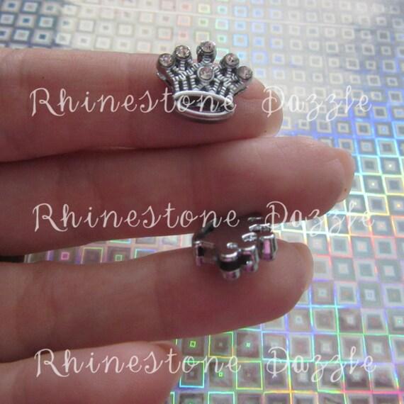 rhinestone crown 8mm slide charms princess crown slide