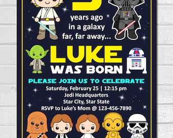 Star Wars Invitation, Starwars invitation, Star Wars Birthday Invitation, Star Wars Party invitation