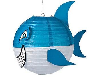 4 /My Shark Party Lanterns / Party decorations/ shark theme /shark