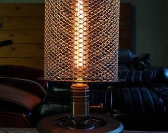Vintage Hairpin Filament Steel Mesh Motorcycle Lamp