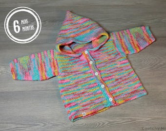Baby knit sweater baby knit hoodie baby knit girl baby gift baby shower gift newborn gift colorful baby hoodie knitted baby clothes