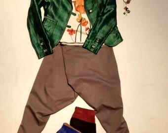 Silk check jacket