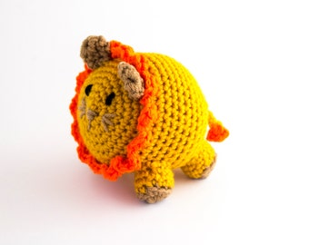 Stuffed Crocheted Lion - Jungle Themed Decor - Amigurumi lion - Small Stuffed Lion - Jungle Toy - Unique Baby Gift - Baby Boy Gifts