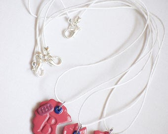 3 Way Best Friend Necklace, BFF Necklace, 3 Way BFF Necklace, Friendship Necklace, Best Friend Necklace for 3, Three way Friendship Necklace