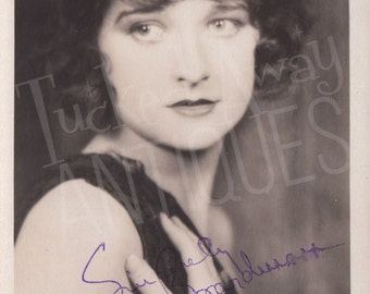 """Vintage Autographed Photo of Silent Film Star ELEANOR BOARDMAN - The """"New Face of 1922"""" - """"Souls for Sale"""" Leading Actress"""