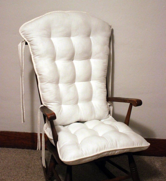 Farmhouse White Rocking Chair Cushions Glider Replacement