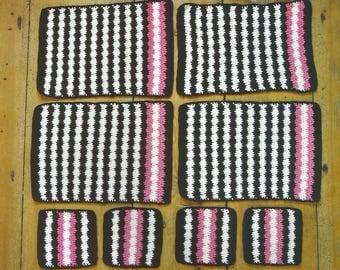 Crochet Place Mats and Coasters PDF Crochet Pattern