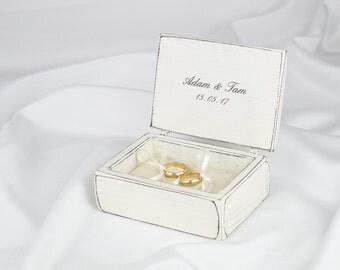 Love Birds Wedding Ring Bearer Box Ring Box Wedding Ring Box Rustic Heart Proposal Ring Box
