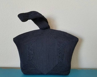 """1940's Corde' Navy """"Avant Garde"""" Wristlet Purse - Orignial Purchase Tag Included"""
