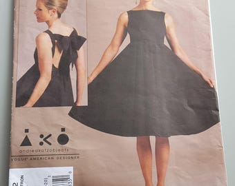 Vogue Evening Formal Dress Pattern V1102
