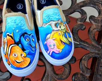 Hand Painted Finding Nemo Dory Shoes