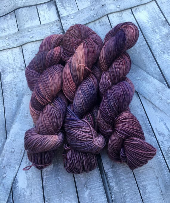 Hand Dyed Yarn,Gypsy Soul,Boho Life Series,Purple Speckled Yarn,Fingering Weight,100% Superwash,100 grams,indie dyed yarn,Bohemian Sock Yarn