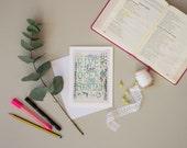 Greeting Card, Peace, Illustrated Faith, Scripture Art, Hymn Art, Encouragement Card, Nursery Decor