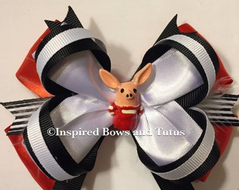 Olivia Pig Inspired Hair Bow